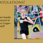 Kalee Soehnlen Breaks 3200m Record