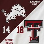 Varsity Football falls to Tuttle 18 – 14 on Controversial Call