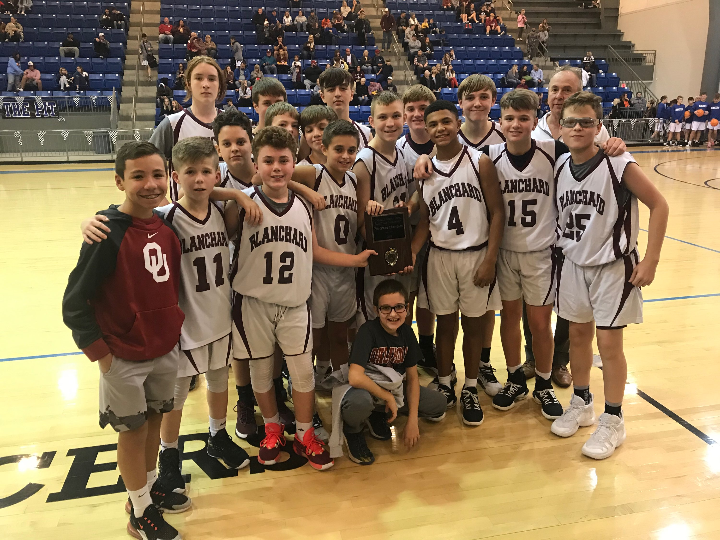 Boys 7th Grade Basketball beats Kingfisher Yellowjackets 32 – 16 – Conference Tournament Champs
