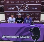 Three Lions Sign with Southwestern (KS) College