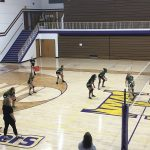 Richmond Girls 7th Grade Volleyball Dennis Intermediate  falls to Hagerstown Jr-Sr High School 2-0
