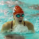 Girls Varsity Swimming falls to Connersville 97 – 89