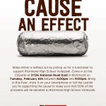 Richmond Volleyball – Chipotle Fundraiser Feb 6