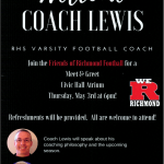 Football- Welcome Coach Lewis Thursday