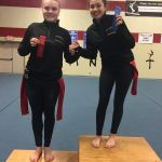 Girls Varsity Gymnastics finishes 1st place at Shelbyville High School
