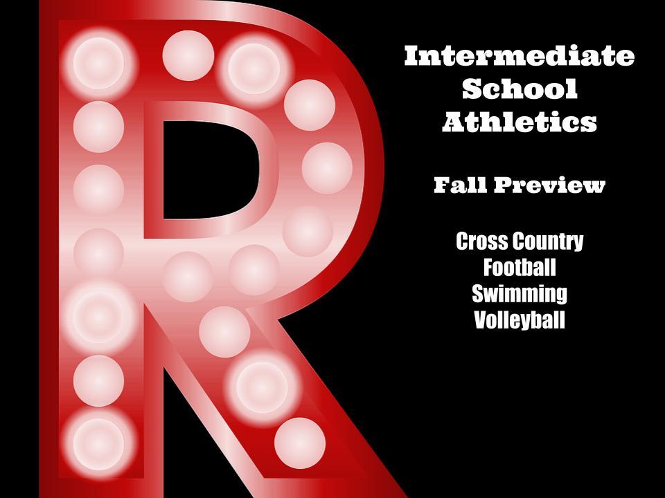 Intermediate School Athletics- Fall Information