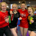 Girls Varsity Gymnastics finishes 1st place at New Castle High School 4-way