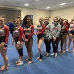 Girls Varsity Gymnastics finishes 1st place at Jay County High School
