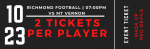 Sectional Football Ticket Sales Thursday Night Only