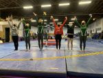Girls Varsity Gymnastics finishes 1st place at New Castle High School