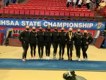 Gymnastics Finishes 8th at State Finals