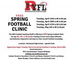 Free Football Clinic- Grades 4, 5, 6