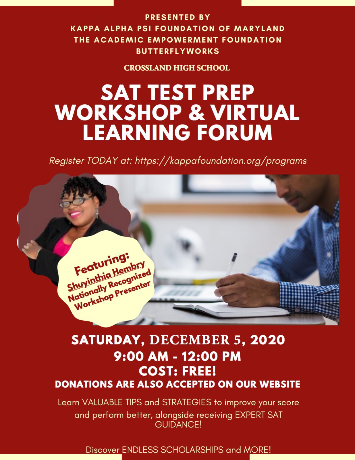 Free SAT Workshop this Saturday