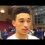 Okemos forward Edward Smith who scored a team-high 17pts