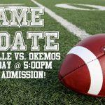 Football resumes play at 5:00PM on Saturday