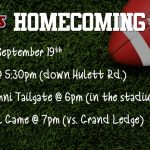 Celebrate Homecoming on Sept. 19th!