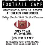 """Best of the Best"" Football Camp returns to OHS in June!"
