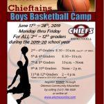 2019 Boys Basketball Summer Camp Sign up