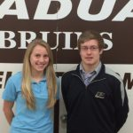 Majors and Giel Honored as Boosters Student-Athletes of the Month for November
