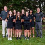 Girls Varsity Golf beats Gilmour Academy 206 – 213