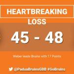 Lady Bruins Lose a Heartbreaker on Saturday Night