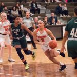 Three Lady Bruins Score in Double Figures, but fell to Tough Archbishop Hoban Team