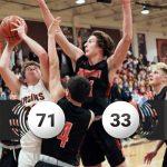 Boys Varsity Basketball beats St. John 71 – 33