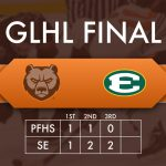 Lampa's 2 Goals not enough to Defeat St. Ed's.  Bruins fall 5-2