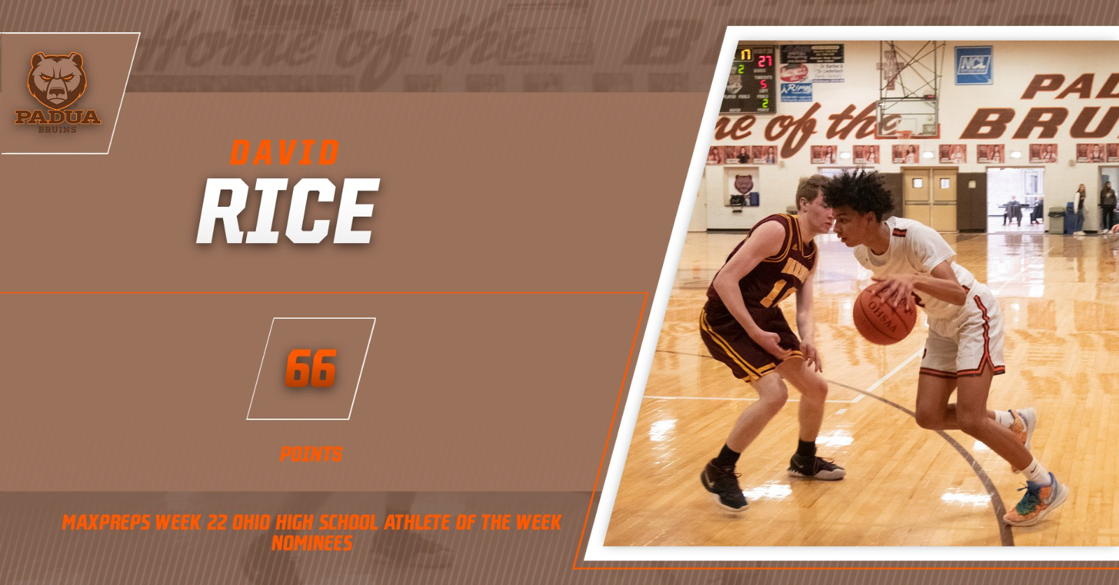 David Rice Nominated as Ohio High School Athlete of the Week by MaxPreps