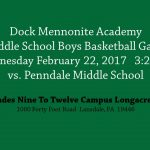 MS Boys Basketball To Play at HS Campus 2/22/17