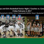 Basketball Senior Night / Coaches vs. Cancer Event