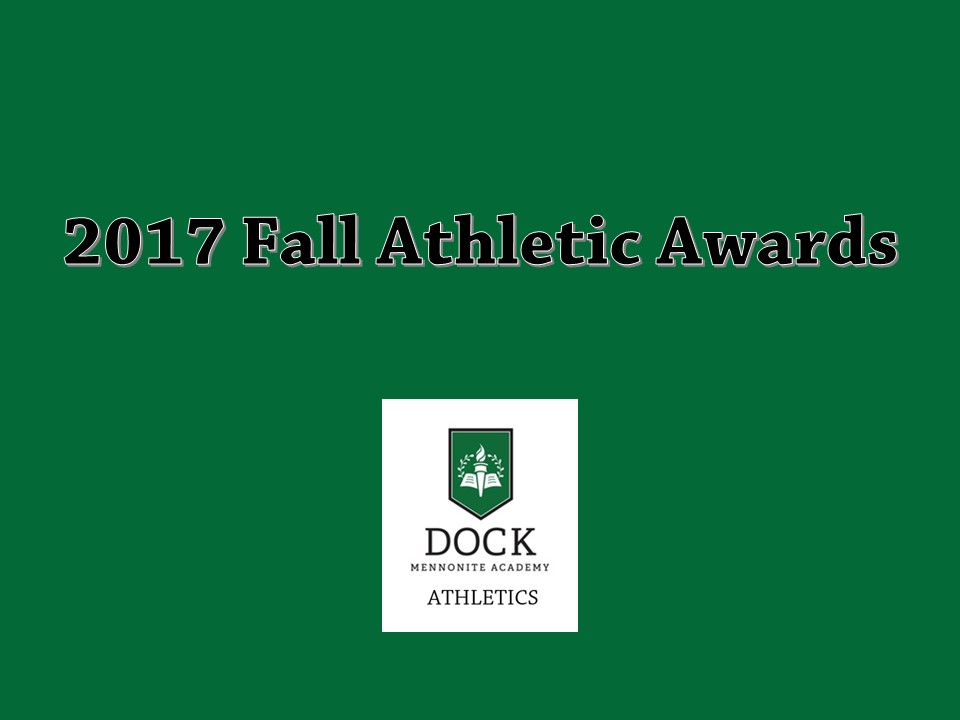 Fall 2017 Athletic Awards Recipients