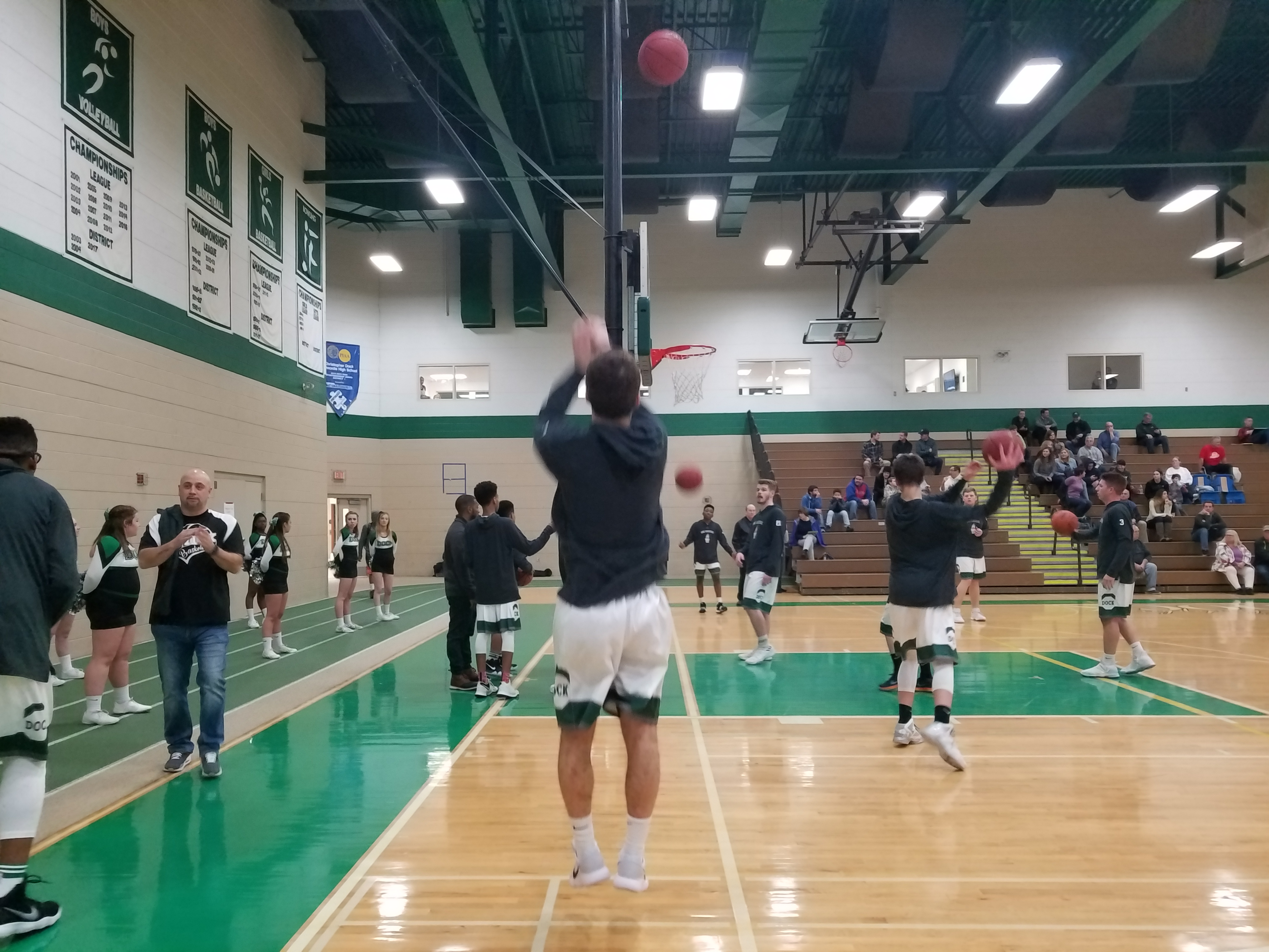 High Pressure Defense Leads Boys Basketball Over District Rival