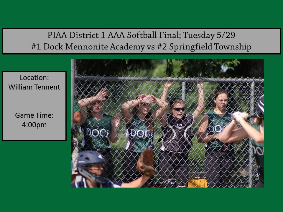 Softball District 1 AAA Final 5/29
