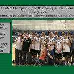 Boys Volleyball First Round State Playoffs
