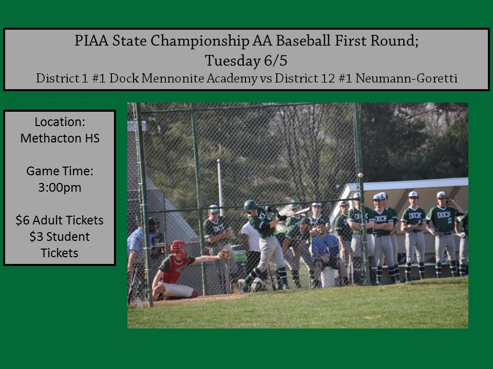 Baseball State Playoffs First Round