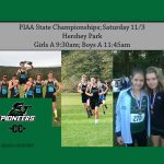 Cross Country State Championships Saturday 11/3