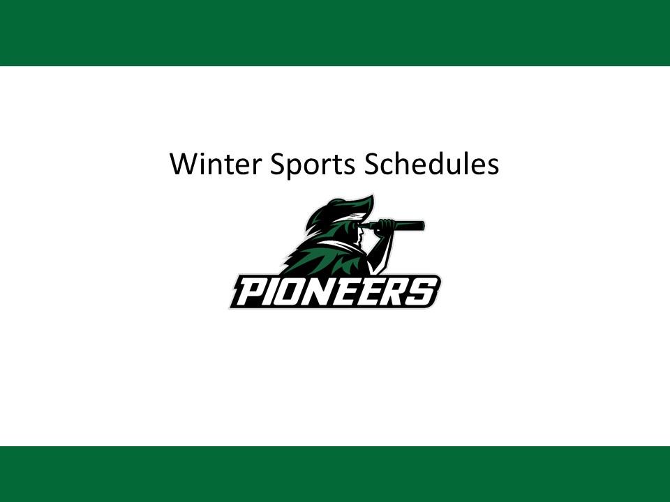 Winter Sports Schedules