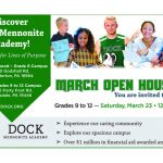 Dock Mennonite Academy Grades 9-12 Open House 3/23
