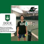 Robert Cercos Gonzalez – District 1 AA Boys Tennis Champion