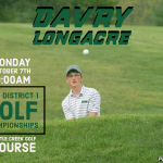Davry Longacre competes at PIAA District 1-AA Golf Championships