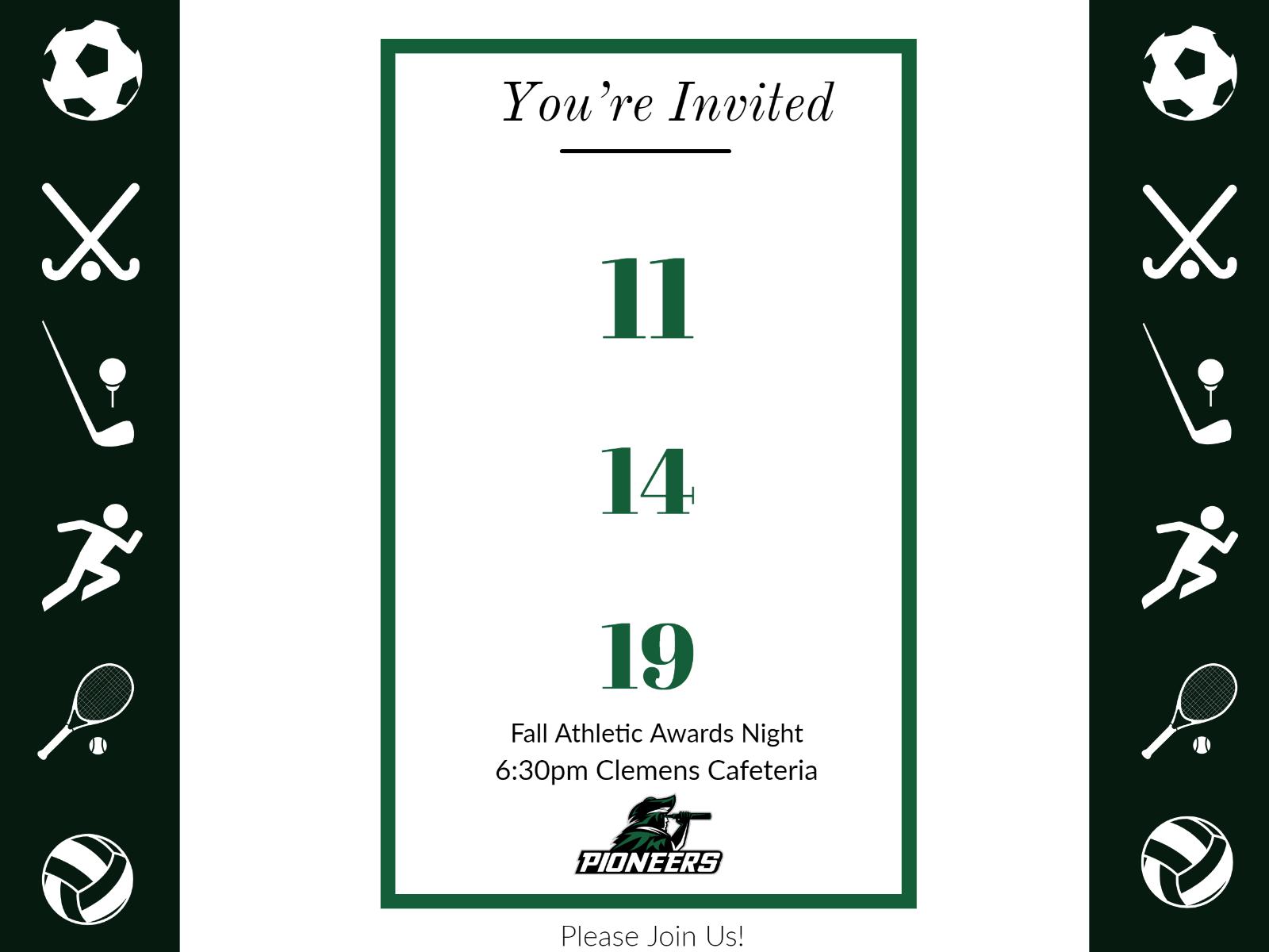 2019 Fall Athletic Awards Night