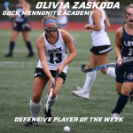 Olivia Zaskoda PhilaFH Defensive Player of the Week Presented by Horizon Field Hockey Club