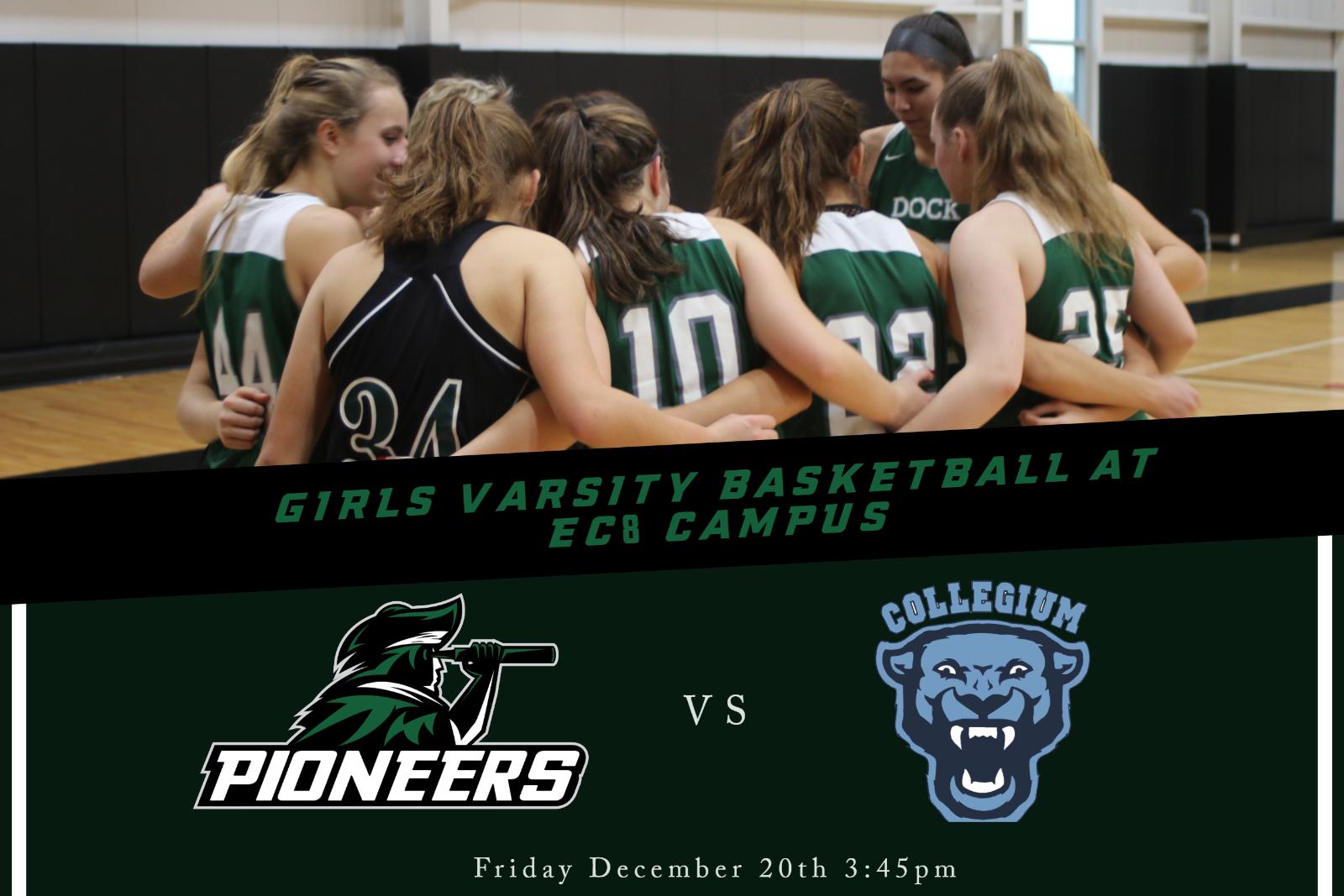 Girls Varsity Basketball to Play at EC-8 Campus 12/20/19