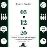 Winter Athletic Awards Night – March 12th, 2020