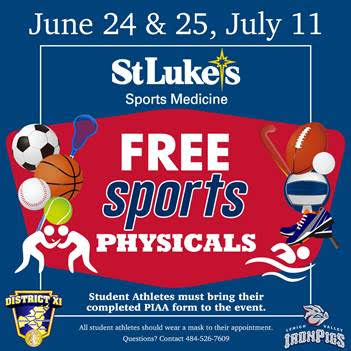 Free 2020-21 Athletic Physicals at Coca Cola Park