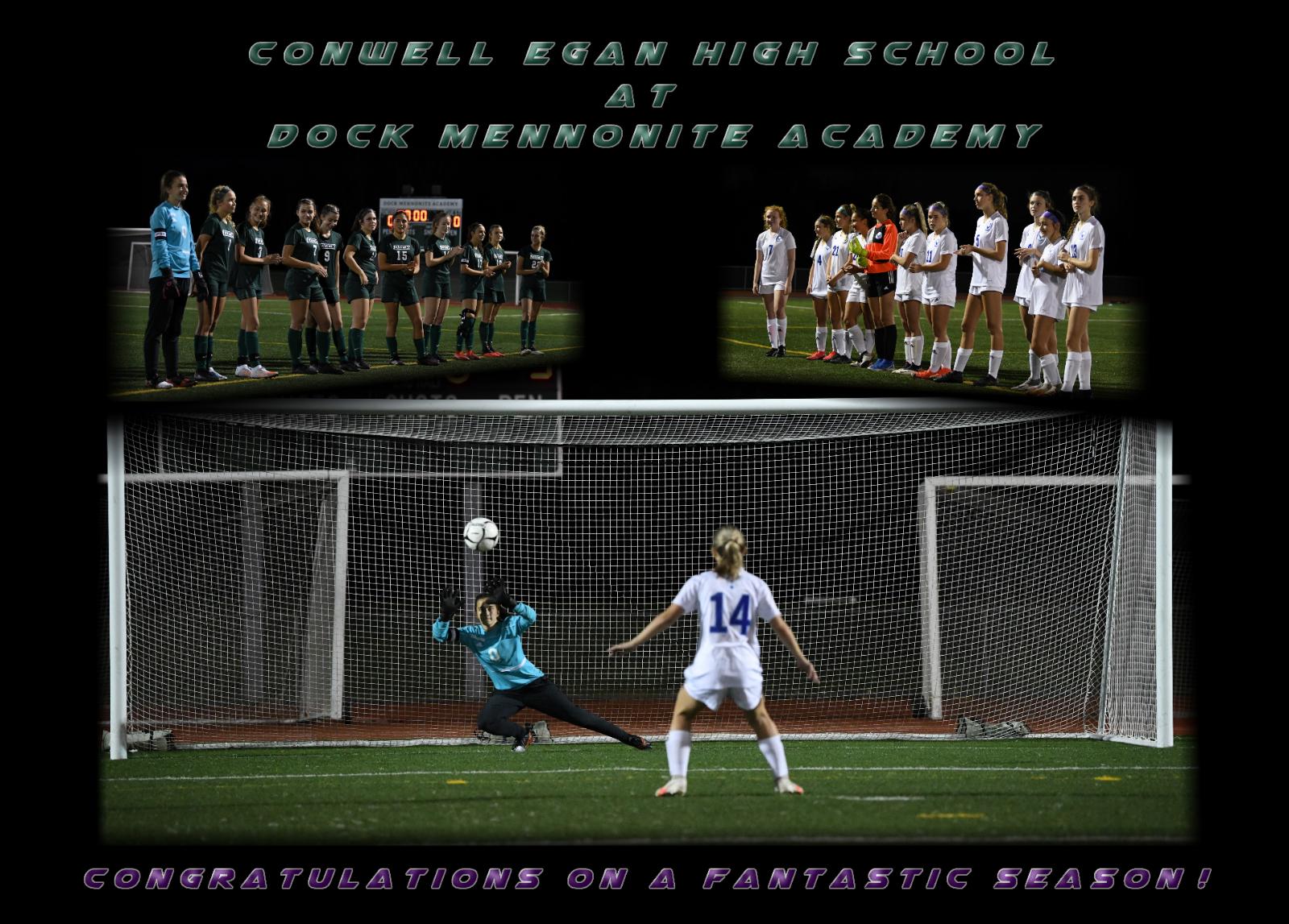 Girls Soccer Ends their Fall Season in Penalty Kicks to Conwel-Egan