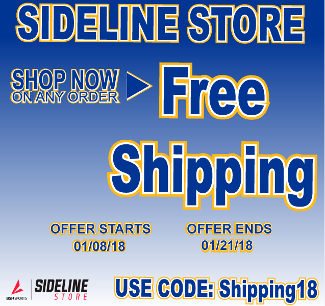 Free Shipping at our Sideline Store