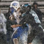 Mustangs Football Falls Short in Mud Bowl v. Spencer 13-0
