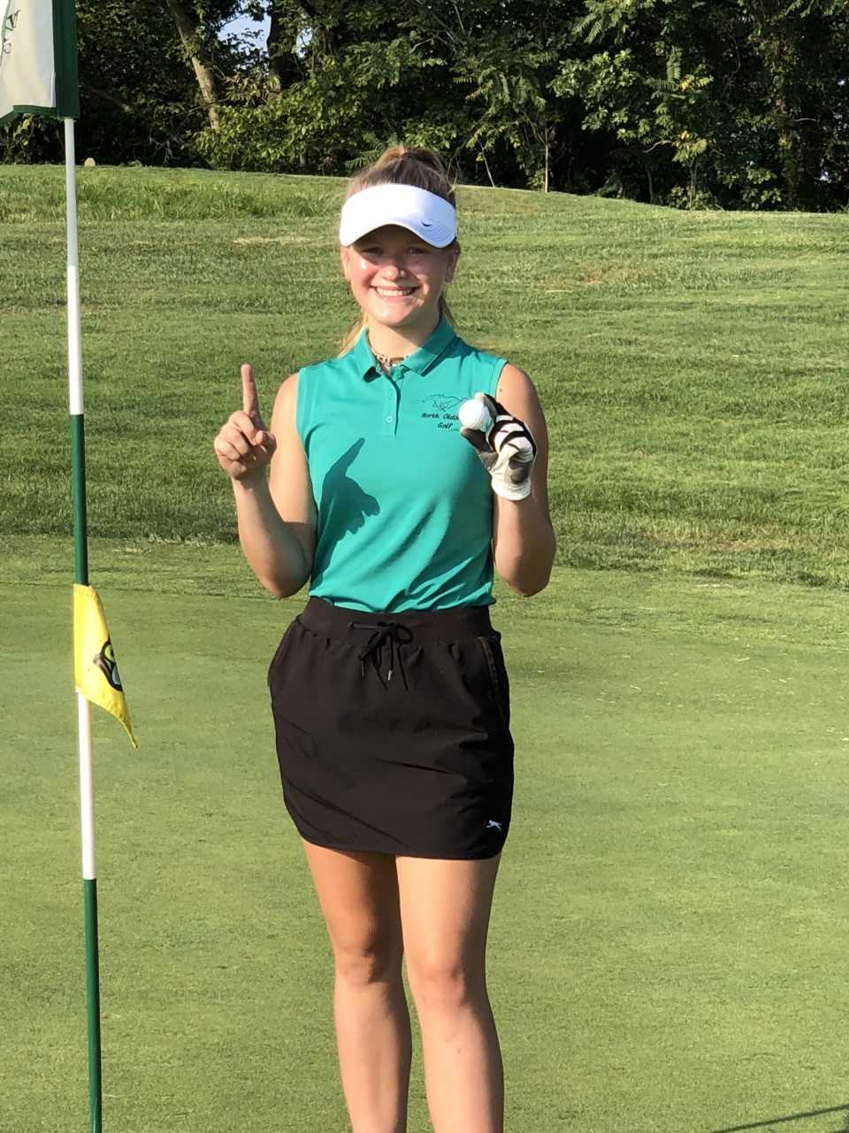 Hole in One for Addie Morgan, NOHS Girls Golfer